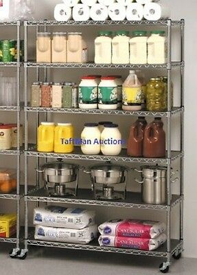 Seville Commercial Industrial Restaurant Storage Rack Wire Shelving 6ct 48x18x72