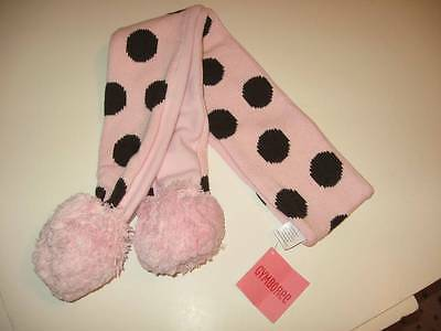 NWT Gymboree Sweeter Than Chocolate Polka Dot Pom Pom Scarf
