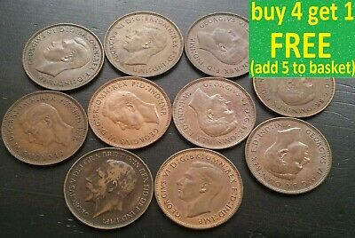 British Pennies George V & VI Coins Pick Choose Your Own Better Grades (5F)