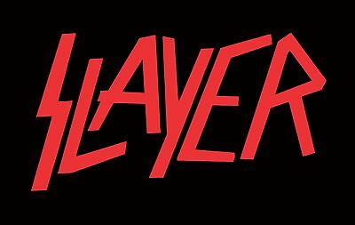Huge Slayer Vinyl Sticker Any Color!!