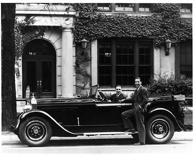 1928 Packard Eight Touring Factory Photo Rene Lacoste ad0263