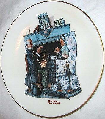 THE DANBURY MINT NORMAN ROCKWELL TEA FOR TWO GORHAM FINE CHINA PLATE 1978