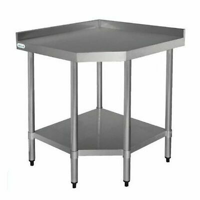 Stainless Steel Corner Bench 900x800x600mm Vogue Commercial Kitchen Equipment