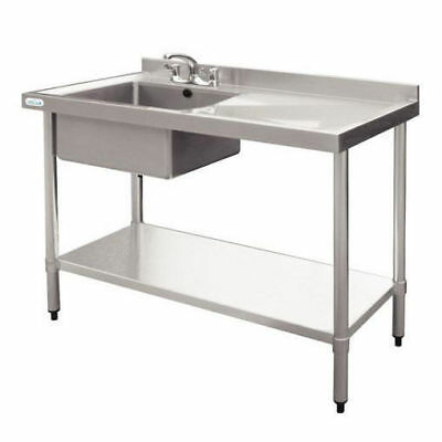 Sink with Drainer 900x1000x600mm, Left, Commercial Stainless Steel Kitchen