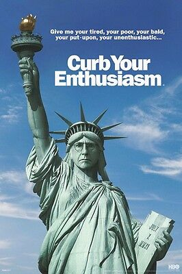 CURB YOUR ENTHUSIASM POSTER ~ STATUE OF LIBERTY 24x36 Larry David TV HBO
