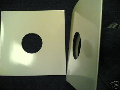"""50 12"""" 5Mm Spined White Card Album Record Sleeves *New*"""