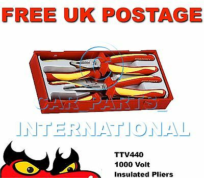 TENG TOOLS Insulated 1000V 4pc PLIER SET TTV440