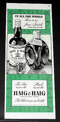 1942 Old Wwii Magazine Print Ad, Haig & Haig, The Oldest Name In Scotch, Art!
