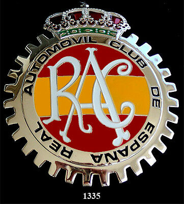 CAR GRILLE EMBLEM BADGES - SPANISH ROYAL AUTO CLUB
