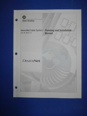 ALLEN BRADLEY DeviceNet CABLE SYSTEM PLANNING AND INSTALLATION MANUAL, NEW