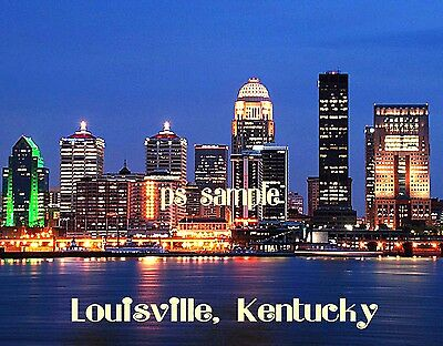Kentucky - LOUISVILLE Skyline - Travel Souvenir Flexible Fridge Magnet
