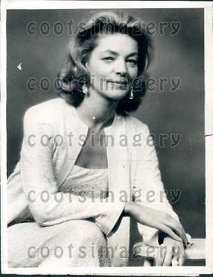 1968 Hollywood Legend Sultry Actress Lauren Bacall Wire Photo