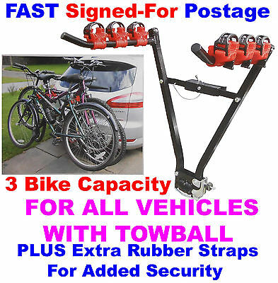 CC5 Car Saloon Hatchback Estate Towball Towbar 3 Cycle Bike Bicycle Carrier Rack