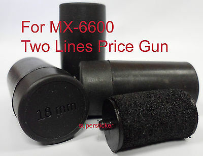 10 Price Gun Labeler Labeller refill Ink rolls for MX-6600 18mm