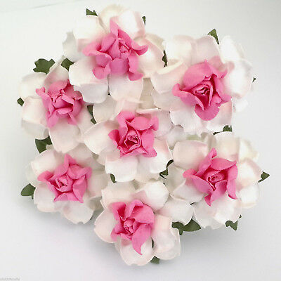 Paper Flower Open Rose Small Bunch 12 Scrapbook Cake Decoration