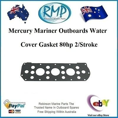A Brand New Water Cover Gasket Mercury Mariner 80hp (800) 4cyl # 27-85493