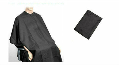 Adult Salon Hair Cut Hairdressing Barbers Cape Black Gown Protector 137cmx 96cm