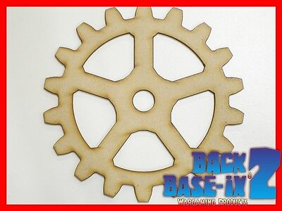 MDF Wooden Shapes Cogs 50mm High 3mm Thick Custom Cut x 10 pieces cog24
