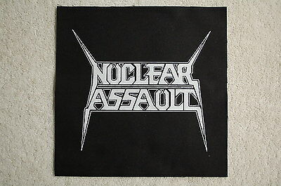Nuclear assault Back Patch (BP123) Rock Metal Testament SOD Anthrax