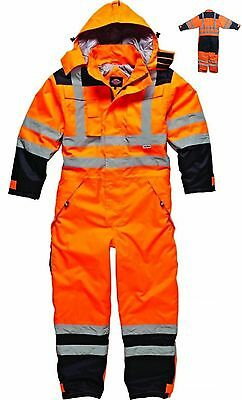 Dickies Recovery Coverall Boiler Suit Overall Auto Repair Garage Hi Vis M-XXL