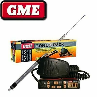 Gme Tx3100 + Antenna Pack Uhf Cb Radio New 80Ch 80 Channel Mobile Ae4012K1