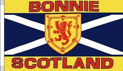 BONNIE SCOTLAND FLAG 3' x 2' Scottish St Andrews Cross Lion Rampant