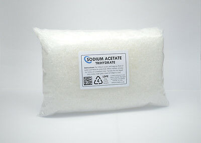 250g Sodium Acetate Trihydrate - 99+% grade. HOT ICE