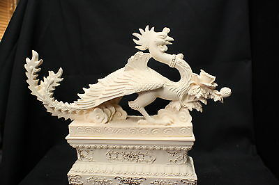 Phoenix on stand 195mm. Ivory Colour finish. (AN061V)