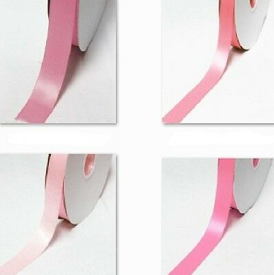"100 Yards Double Faced Satin Ribbon 1/2"" /13mm. Wholesale  All Pink s for bow"
