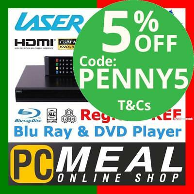 LASER BD3000 Multi Region Blu-Ray Player HDMI DVD BD Full HD 1080p DTS Dolby LAN