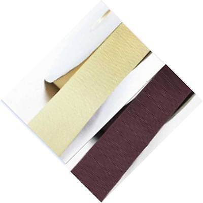 "Grosgrain Ribbon 5/8"" /16mm Wedding 5 Yards Ivory to Brown coLor"