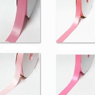 "Double Faced Satin Ribbon 1/4"" /6mm. 100 Yards All Pink s to Choose Thin"