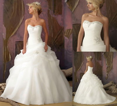 NEW Stock Bridal Ball Gown Formal Wedding Dresses STOCK Size 6 8 10 12 14 16
