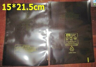 """50pcs ESD Anti-Static Bags Both Side Printed 3.5"""" HDD Hard Disk Pack 21.5*15cm"""