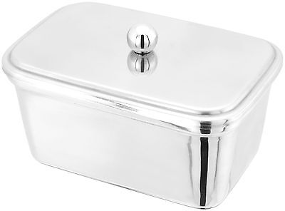 JUDGE Stainless Steel Lidded 500g Butter/Margarine/Lard Tub/Dish. Afternoon Tea.