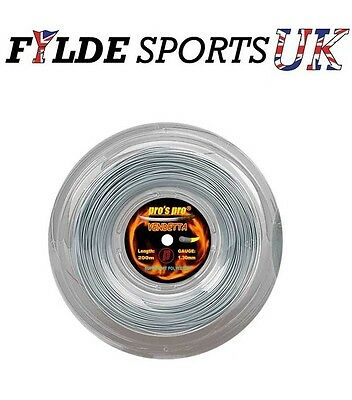 Pro's Pro Vendetta Tennis String 1.25mm 200m Reel - Silver