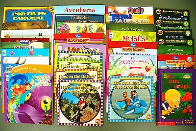Lot In Spanish 32 kids story picture books/early readers Peter Rabbit/Thumbelina