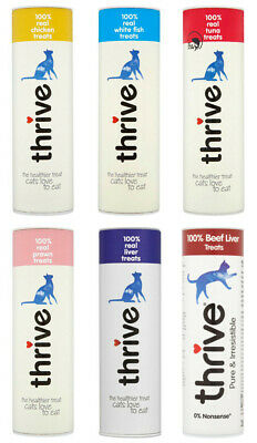 Pet project Thrive Cat Treats 100% Real Meat Freeze Dried Case of 12 Tubes