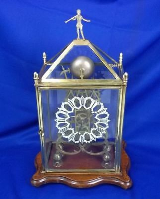 Circa 1850 Victorian Fusee Skeleton Clock British Colonial Hunting Club