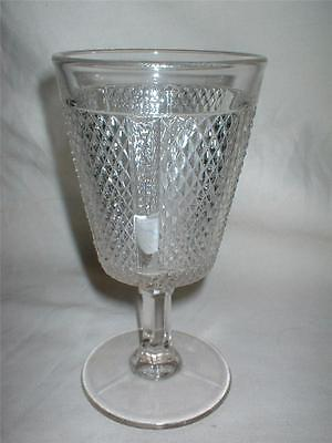 c1880s Later Panelled Diamond Point Water Goblet