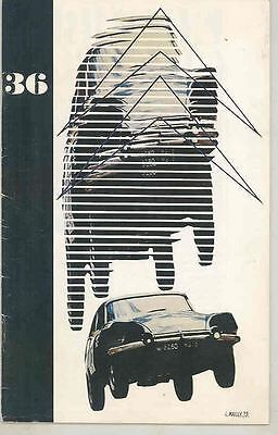 1974 Citroen Double Chveron Magazine Brochure 1924 Kegresse Africa Rally wt1075