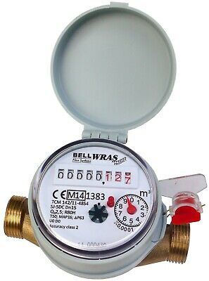 "15mm 1/2"" BSP Cold Water Meter :: House, Garden"