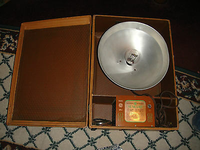 Vintage General Electric Sunlamp-Model LM6-GE Suitcase Tanning Lamp-Odd & Unique