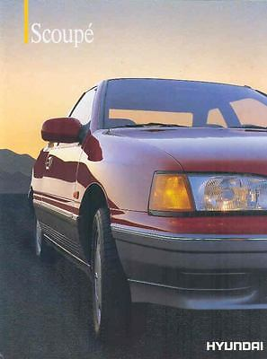 1992 Hyundai Scoupe Brochure Poster Korea Dutch wp3409-JIFVZ5