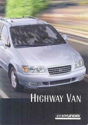 2002 ? Hyundai Highway Van Brochure Korea Dutch wp3430-9OUYGS