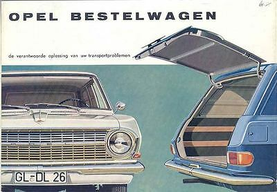 1964 Opel Rekord Van Delivery Brochure Belgium Dutch wp5484-I7VOG7