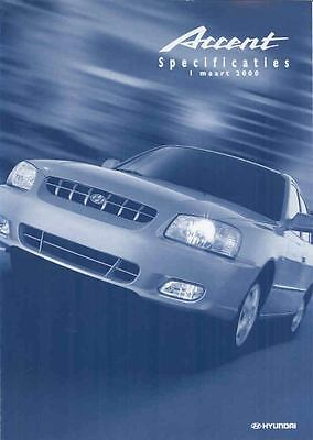 2000 Hyundai Accent Specifications Brochure Dutch wp6934-SNUUZN