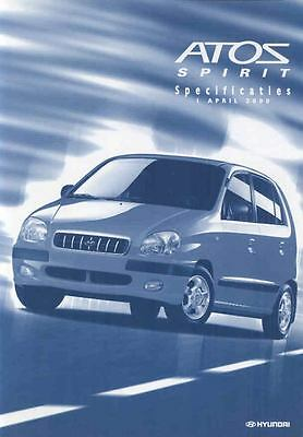 2000 Hyundai Atos Spirit Specifications Brochure Dutch wp6935-9I5Z9V