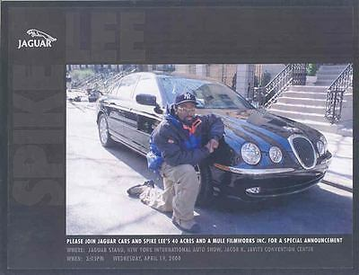 2000 Jaguar S Type & Spike Lee Frameable Print wp6957-BEPHJI