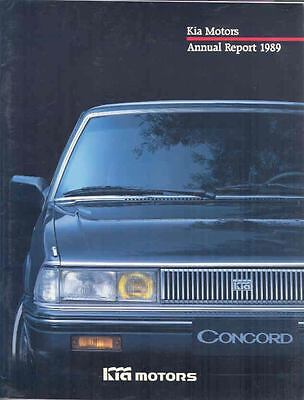 1989 Kia Motors Annual Report Brochure Korea wp7947-ST4B4E
